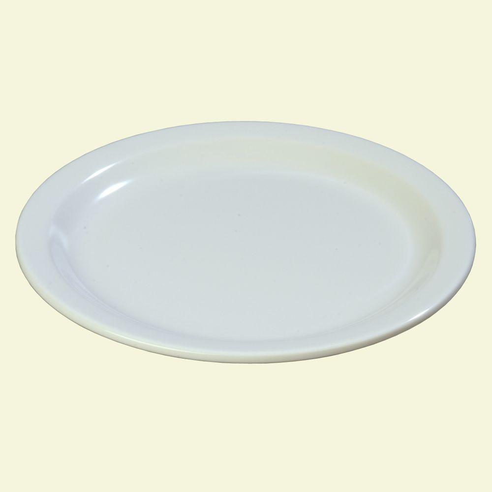 9 in. Diameter Melamine Dinner Plate in White (Case of 48) & Certified International Maritime Lobster Dinner Plate (Set of 6 ...