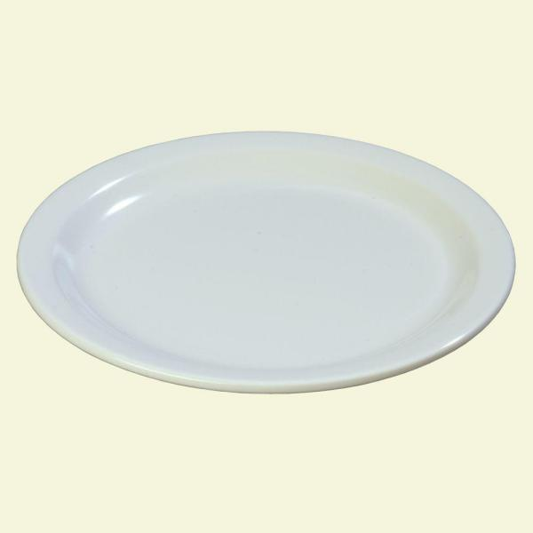 Carlisle 9 in. Diameter Melamine Dinner Plate in White (Case of