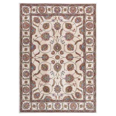 Modesto Vines Ivory 7 ft. 10 in. x 10 ft. 6 in. Area Rug