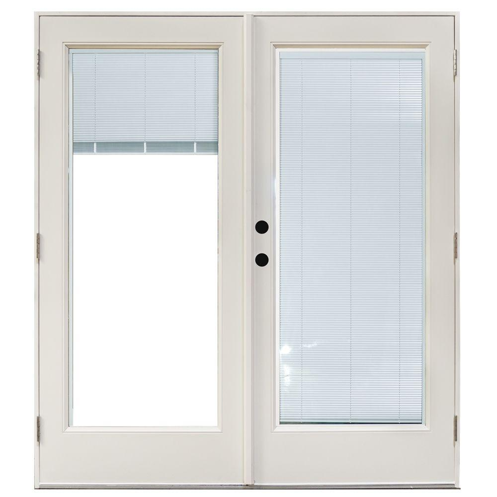 Mp doors 60 in x 80 in fiberglass smooth white right for Outswing french doors