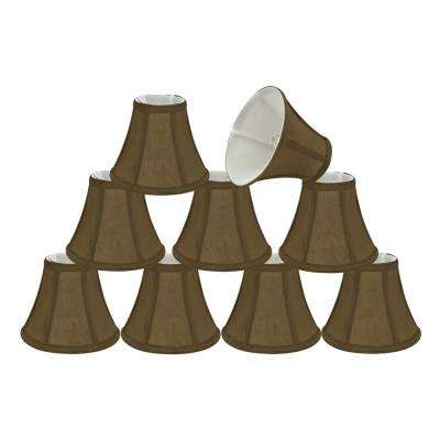 6 in. x 5 in. Light Brown Bell Lamp Shade (9-Pack)
