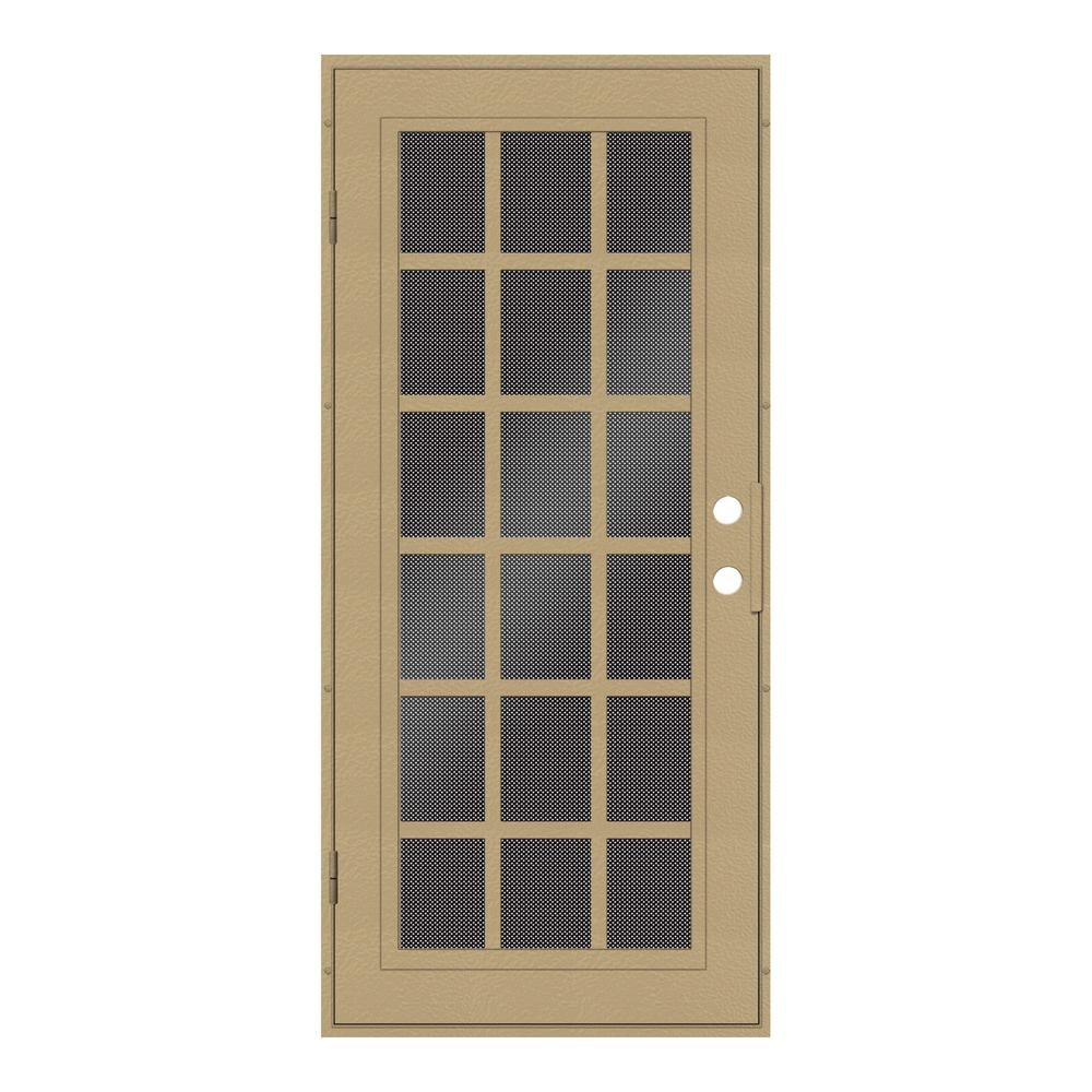 unique home designs 32 in x 80 in classic french desert sand left hand surface mount security. Black Bedroom Furniture Sets. Home Design Ideas
