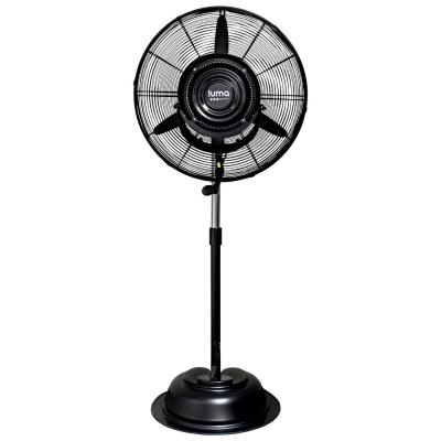 Powerful 24 in. 3-Speed Durable Oscillating Outdoor Misting Fan with Water Tank for Patio Backyard - Black