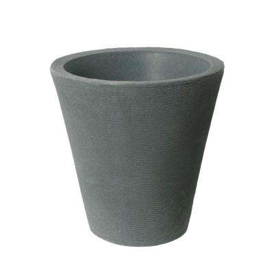 Olympus Self-Watering 15 in. H x 14 in. Charcoalstone Plastic Planter