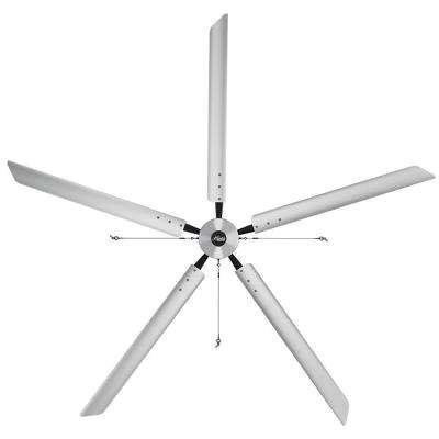 Titan 14 ft. 220-Volt Indoor/Outdoor Anodized Aluminum Single Phase Industrial Ceiling Fan