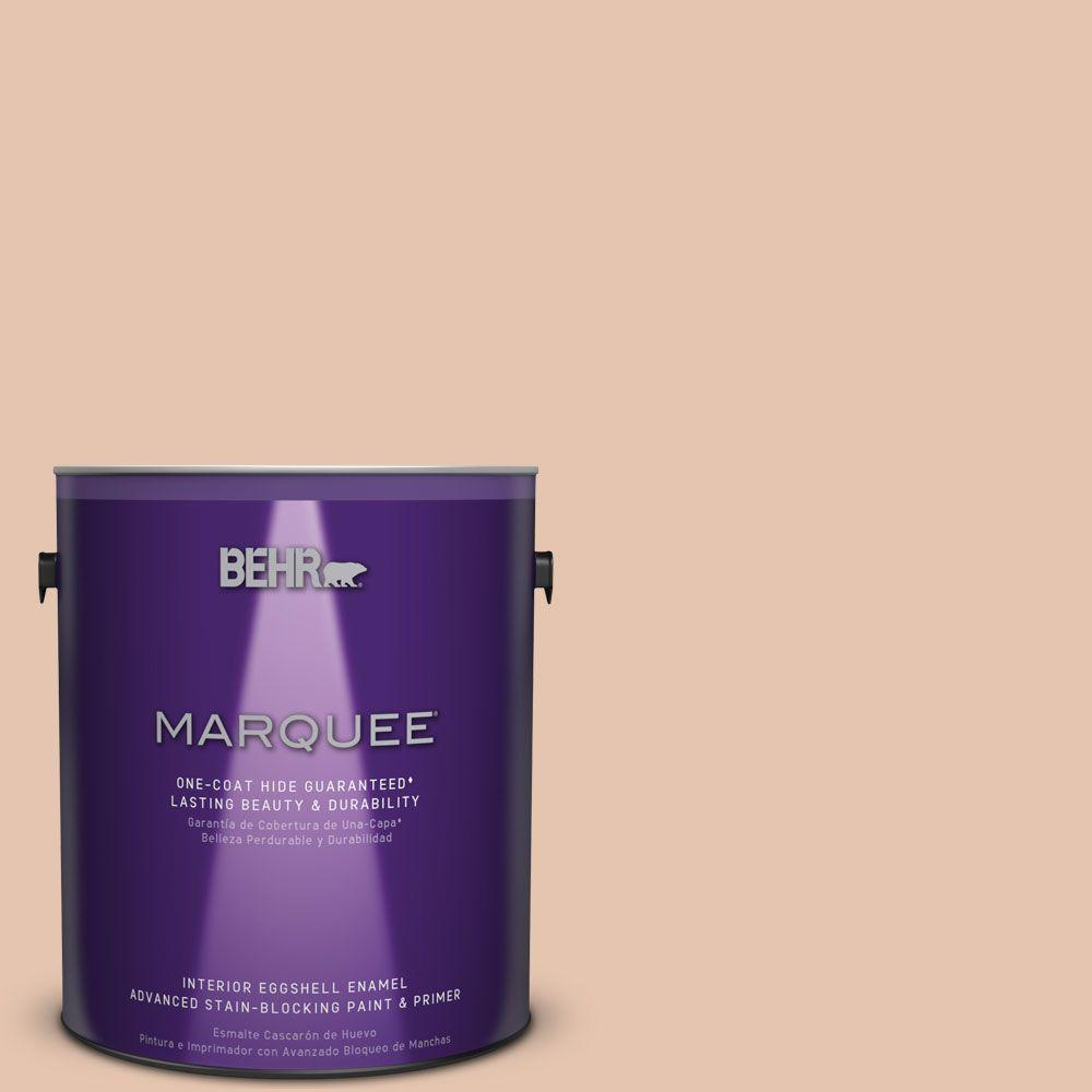 BEHR MARQUEE 1 gal. #MQ1-31 Cockleshell One-Coat Hide Eggshell Enamel Interior Paint