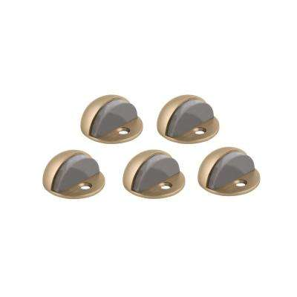 Satin Brass Floor Mount Dome Door Stop Value Pack (5 per Pack)