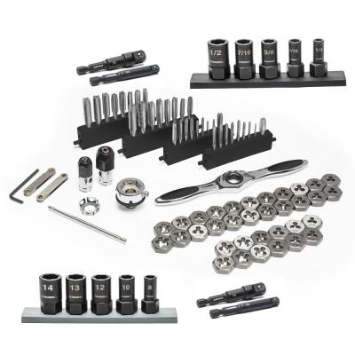 Leftwei Rethread Tap and Die Tool for Process Stainless Steel Cast Iron Industrial Tool Hardware Supplies 24Pcs Tap and Die Set