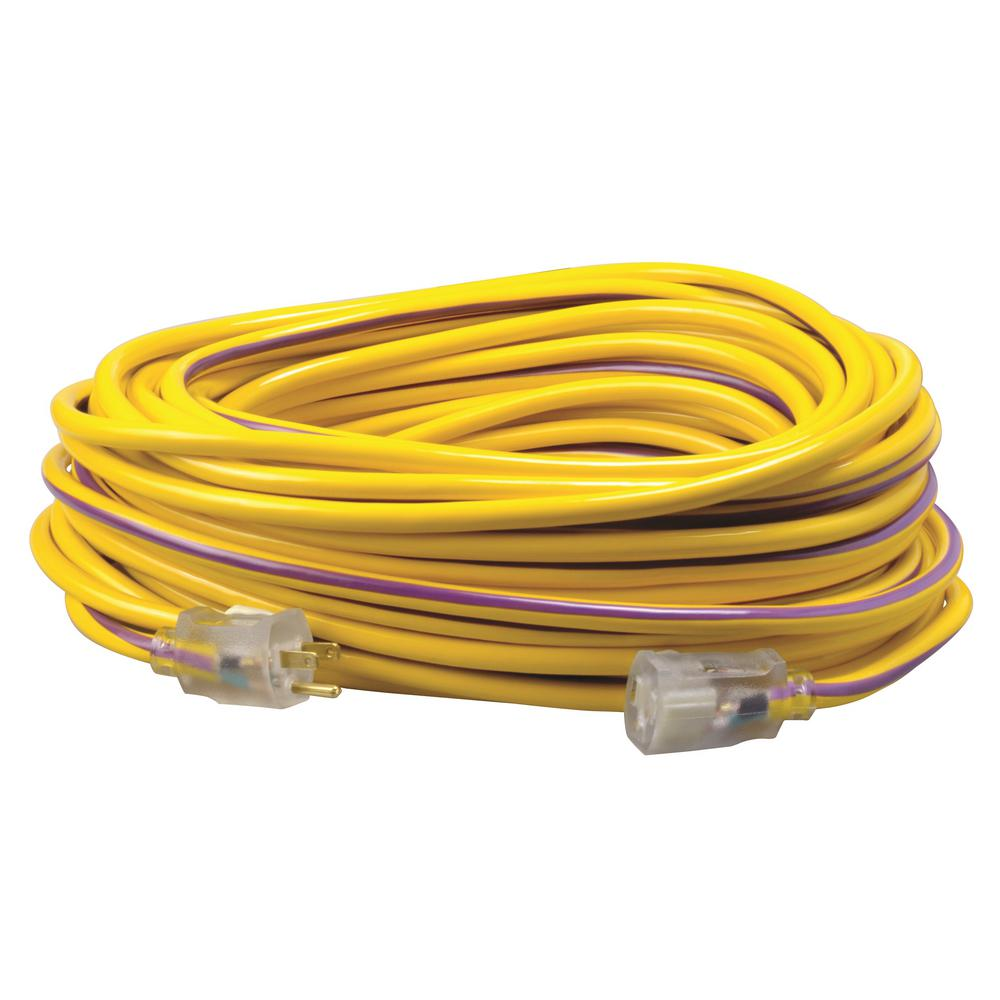 Yellow Jacket 100 Ft 10 3 Sjtw Outdoor Heavy Duty Extension Cord China Thick Pvc Pipe For Electrical Wire Photos Pictures Madein 12 Hi Visbility Multi Color