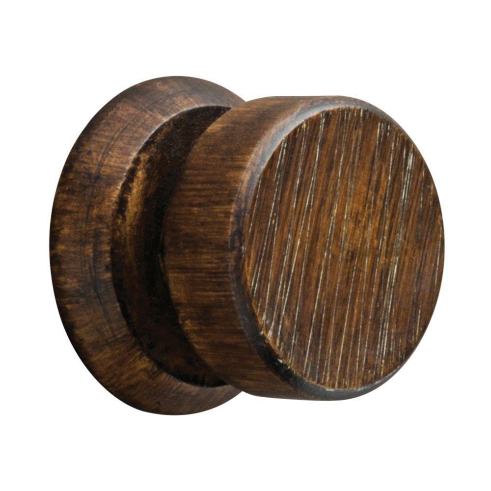 1-1/2 in. Round Charcoal Ebony Wood Deco Hanger