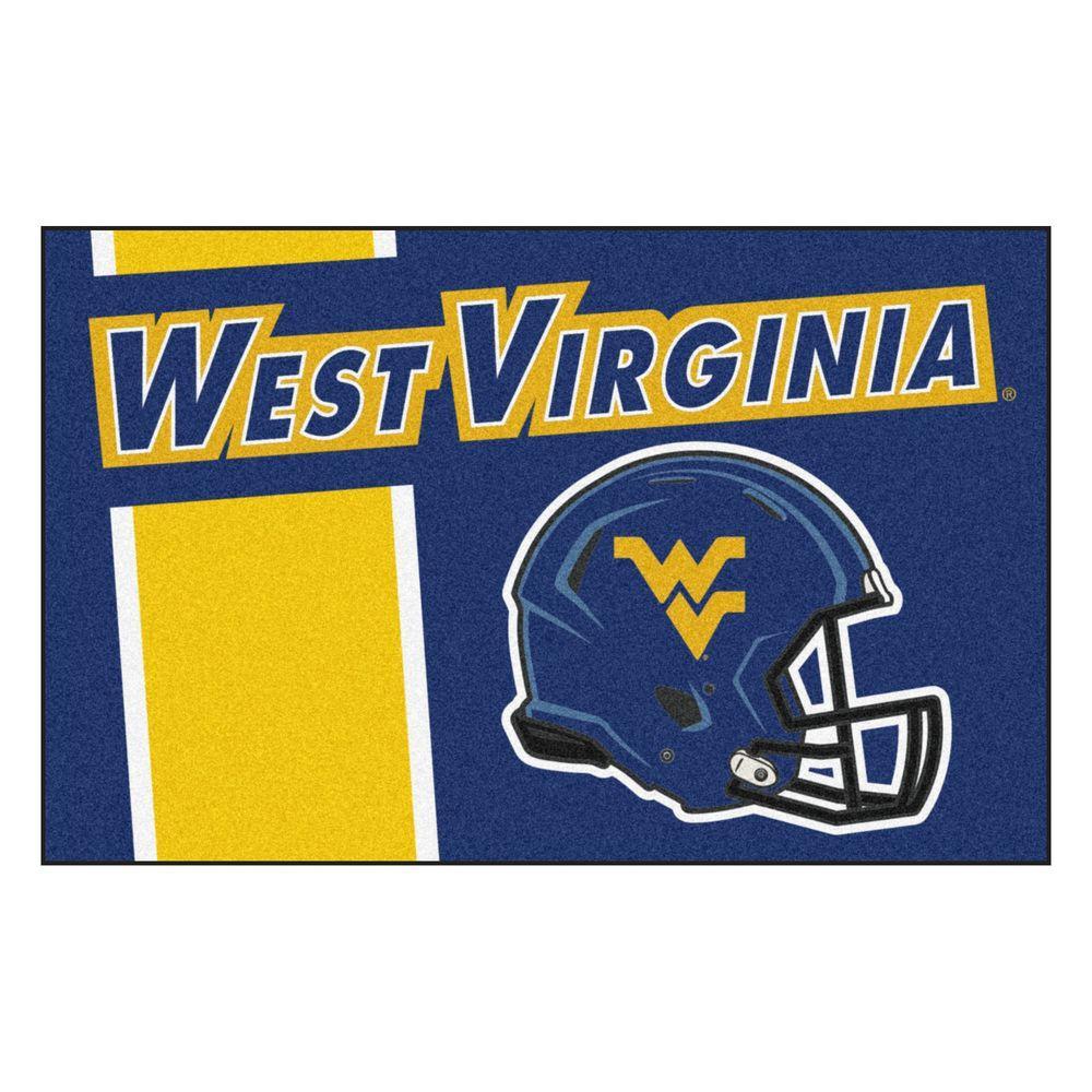 Fanmats Ncaa West Virginia University Navy 2 Ft X 3 Ft