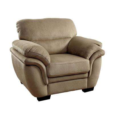 Jaya Light Brown Transitional Style Living Room Chair