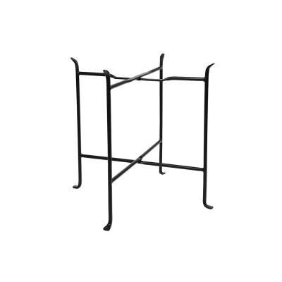 19.5 in. Tall Black Powder Coat Iron Indoor/Outdoor Short Folding Floor Stand
