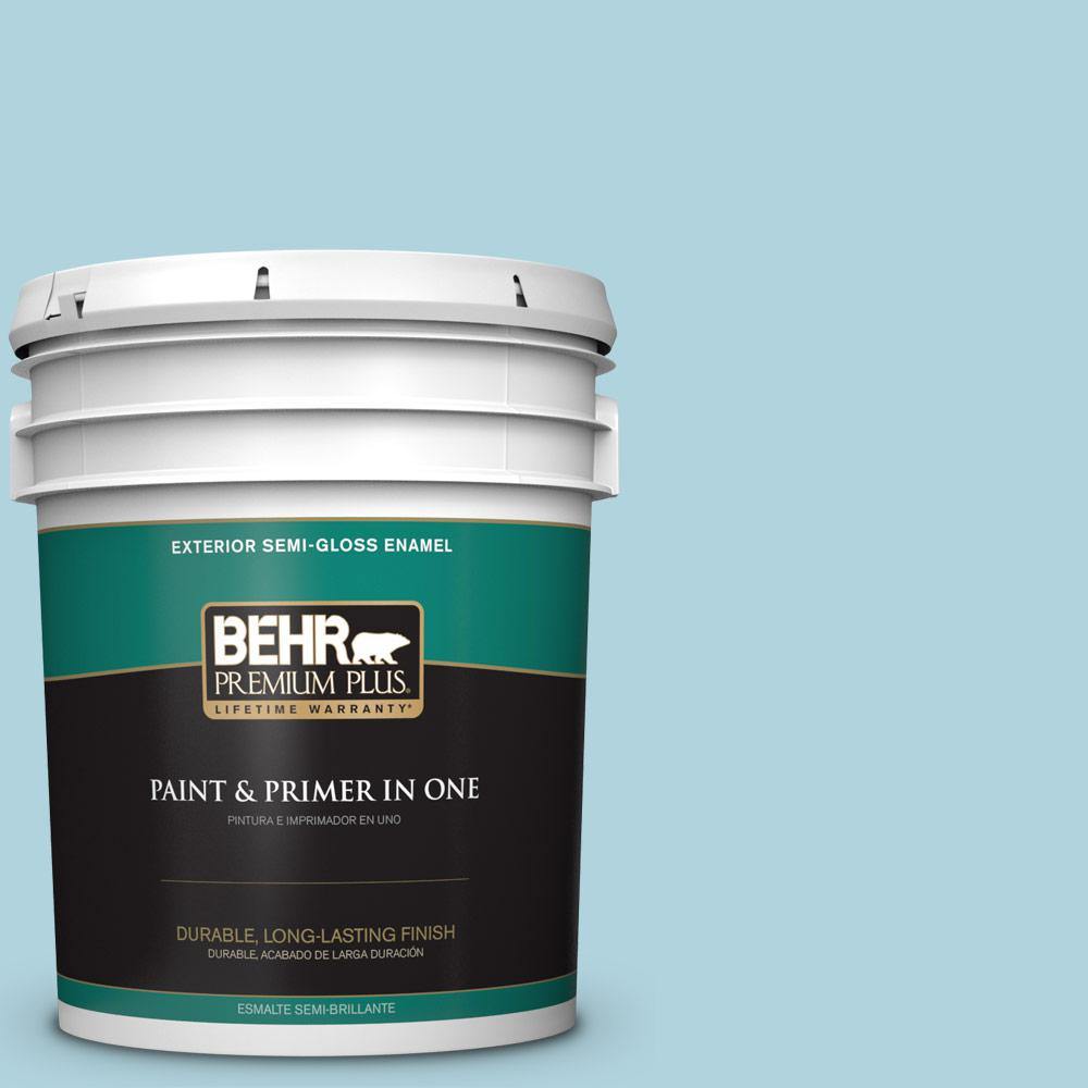 5 gal. #MQ4-55 Balboa Semi-Gloss Enamel Exterior Paint and Primer in