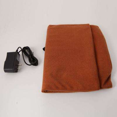 Small Brown Safe Heated Warmer Bed Pad for Dog Cat/Reptile Pet