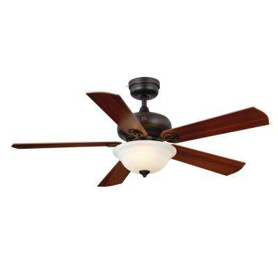 Selena 52 in. LED Indoor Bronze Ceiling Fan