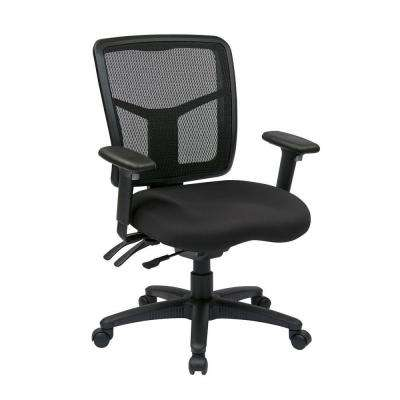 Black ProGrid Mid Back Manager Office Chair