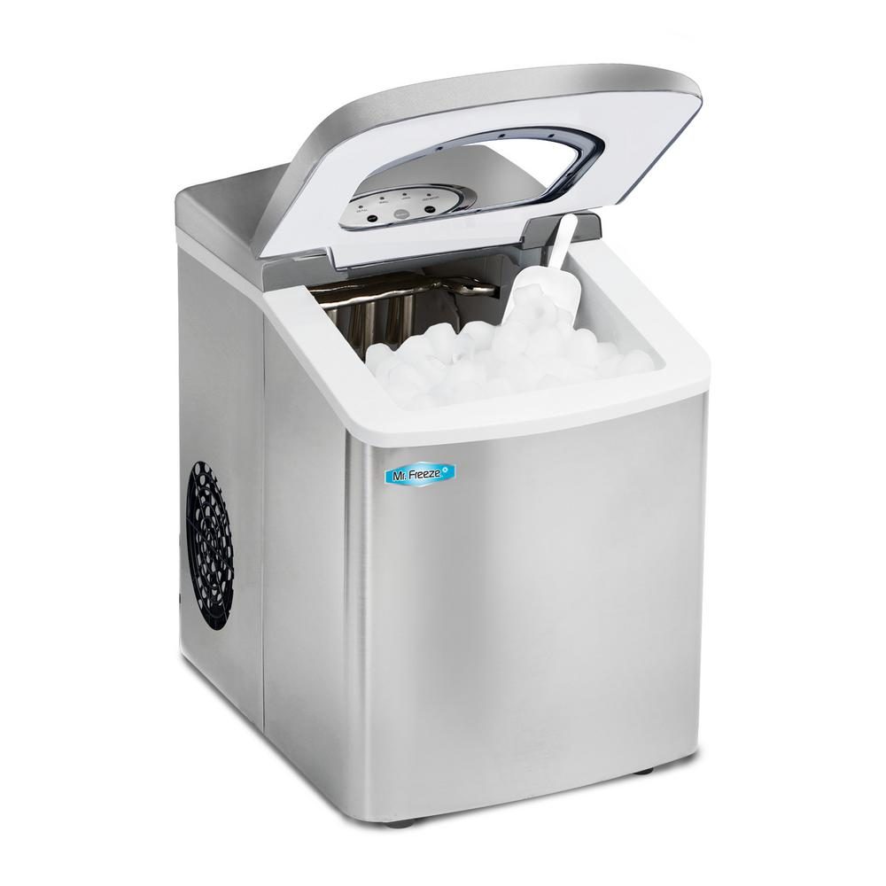 1.7 L Freestanding Portable Ice Maker In Stainless Steel Finish ...