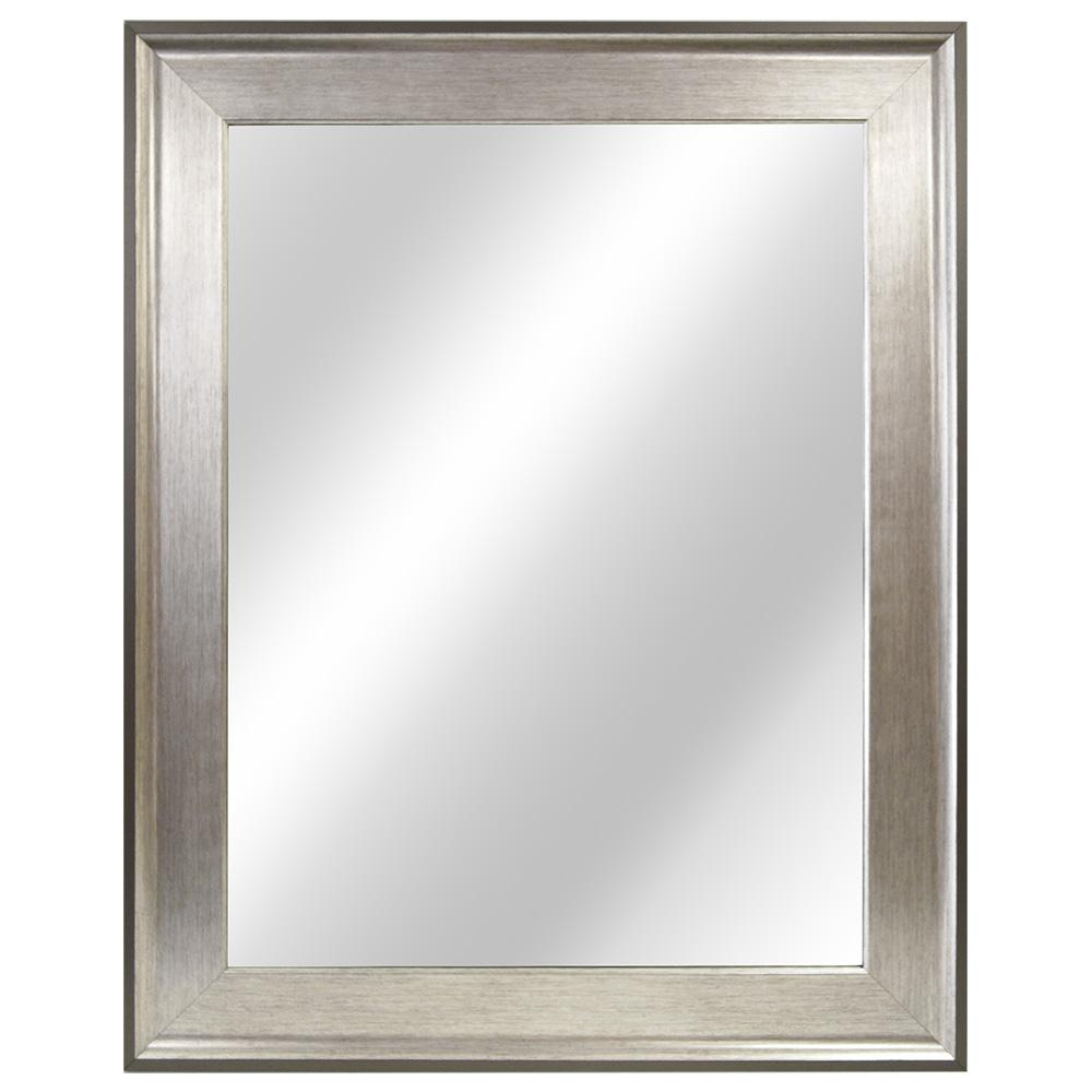 Home Decorators Collection 23 In W X 29 L Framed Fog Free Wall Mirror Two Tone Silver 81158 The Depot