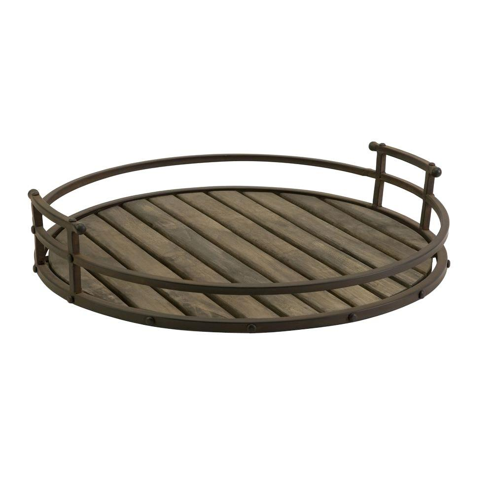 Filament Design Lenor 7 in. Rust Wrought Iron Tray