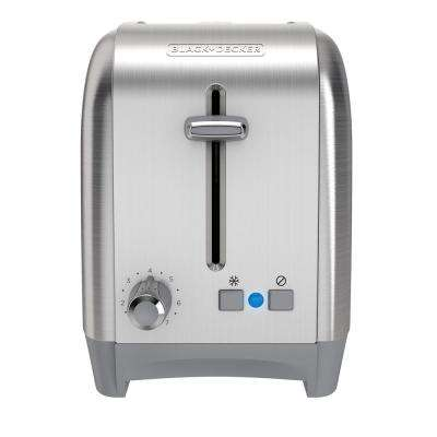 2-Slice Stainless Steel Black Toaster