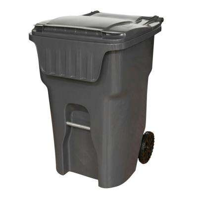 Edge 95 Gal. Grey Heavy Duty Rollout Trash Can