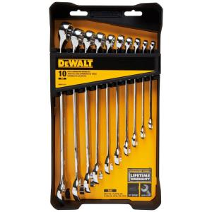 Click here to buy Dewalt SAE Combination Wrench Set (10-Piece) by DEWALT.