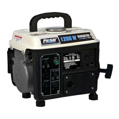 1,200/900-Watt Gasoline/Oil Mix Powered Recoil Start Portable Generator with Koop 2-Stroke 72 cc Engine-CARB Compliant