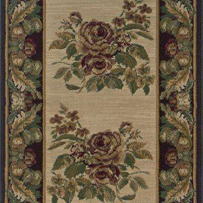 Stratford Bouquet Beige 2 ft. 9 in. x Your Choice Length Roll Runner