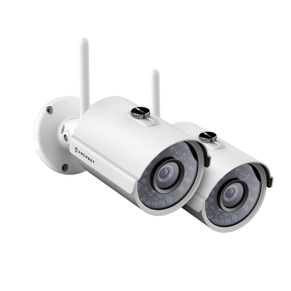 Amcrest ProHD Outdoor 1080p Wi-Fi Wireless IP Security Bullet Camera with IP66 Weatherproof 1080p (1920TVL) (2-Pack)