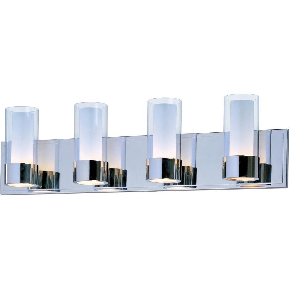 Silo 4-Light Polished Chrome Bath Vanity Light