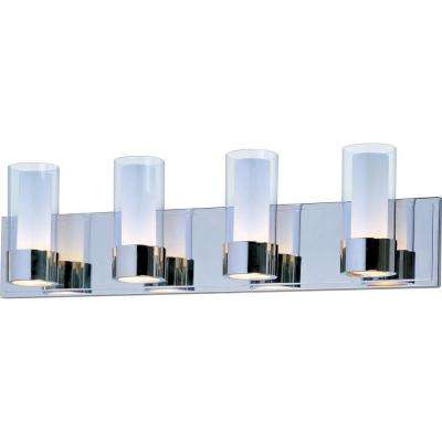 Silo 4-Light Polished Chrome Bath Vanity Light
