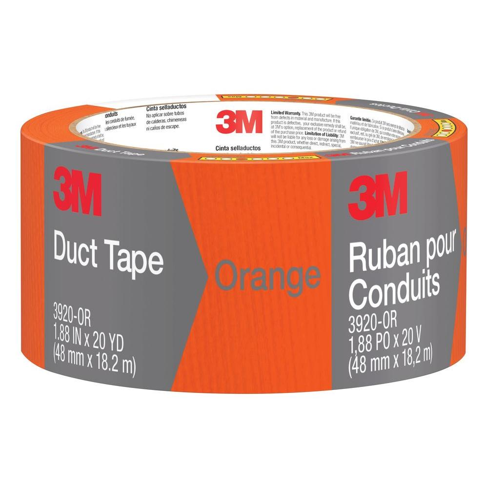 1.88 in. x 20 yds. Orange Duct Tape