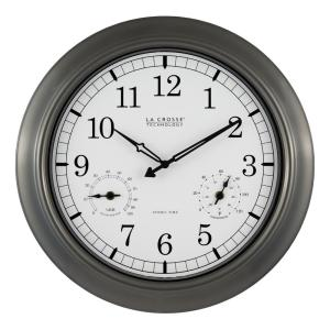 La Crosse Technology 18 inch Pewter Analog Atomic Clock by La Crosse Technology