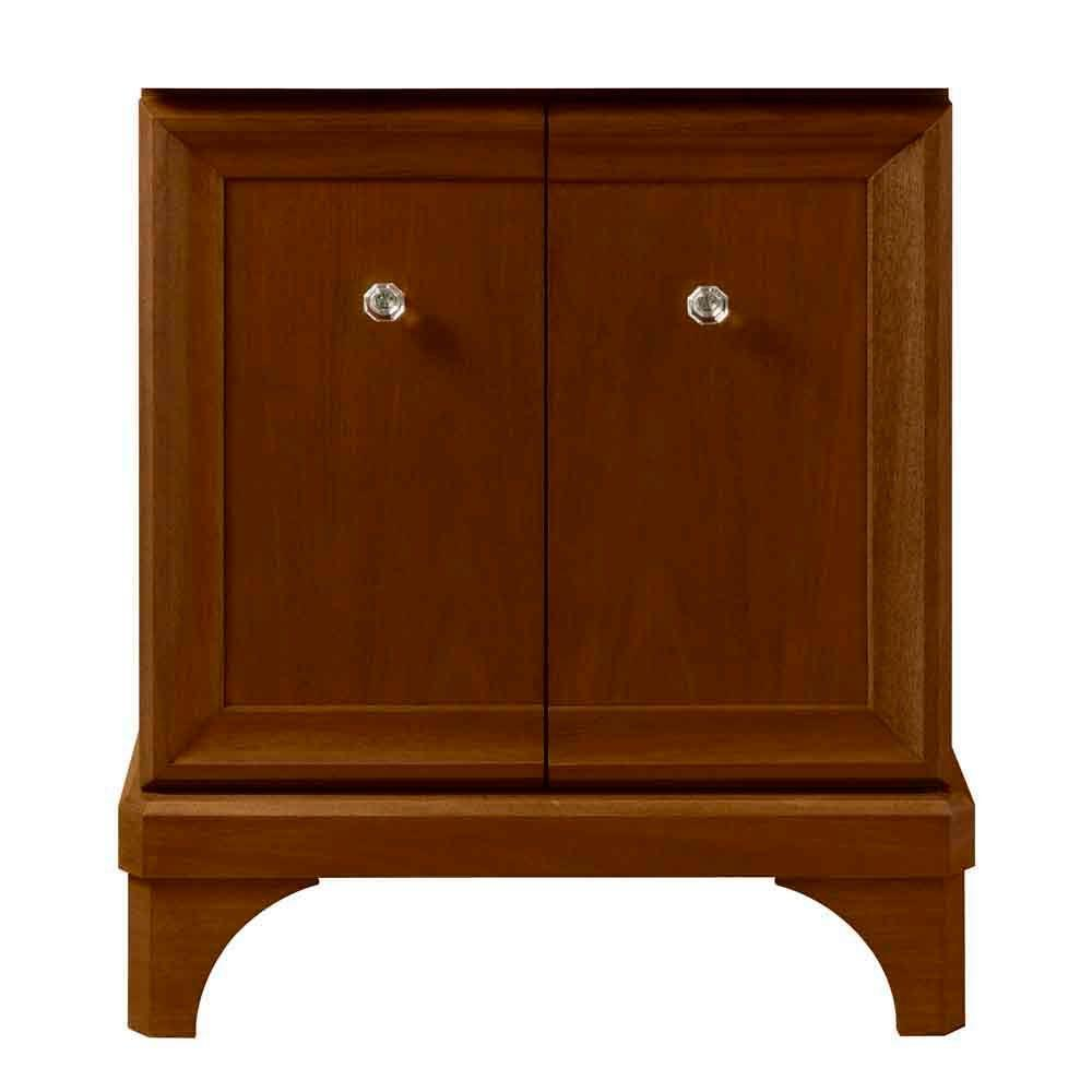 Porcher Lutezia Eleganze 26-1/4 in. Vanity Cabinet Only in Cherry-DISCONTINUED