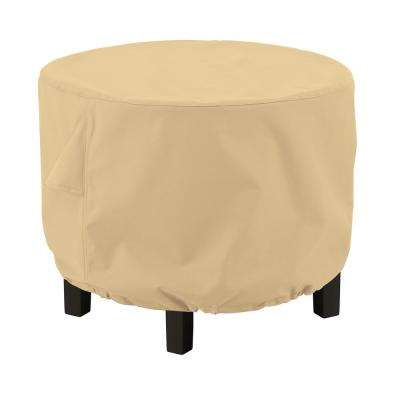 Terrazzo 36 in. L x 36 in. W x 25 in. H Round Ottoman/Coffee Table Cover
