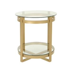 Le House Soli Round Clear Tempered Gl Coffee Table