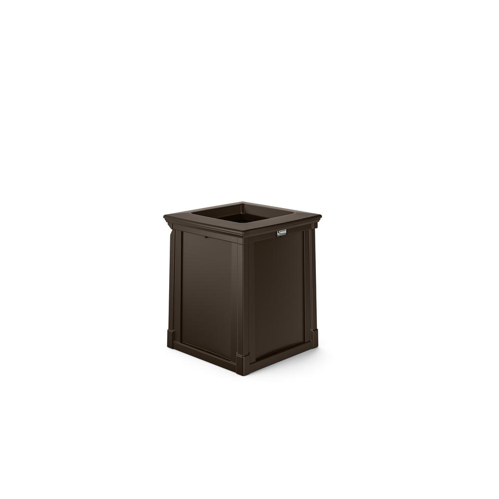 Java Outdoor Commercial Trash Can With Open Lid