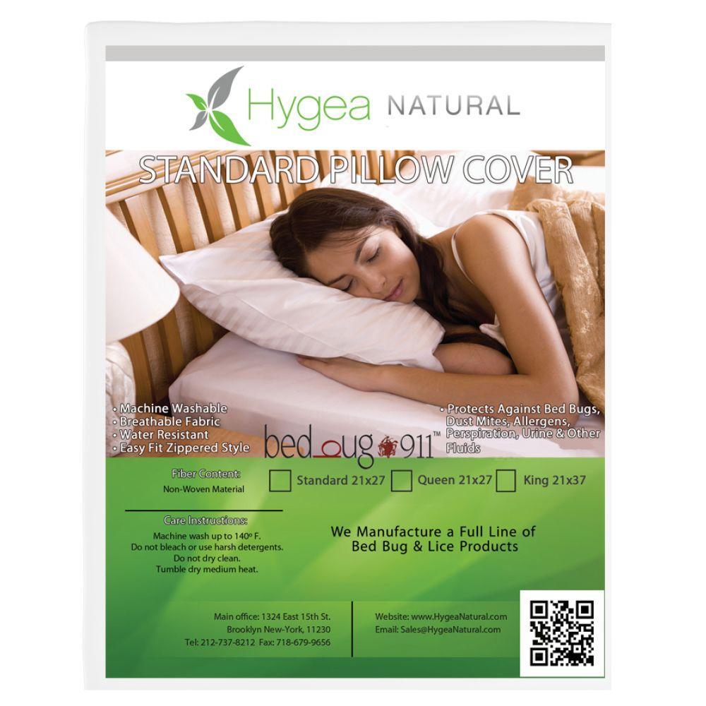 Waterproof, Dust Mite, Lice and Allergen Proof Pillow Encasement Luxurious Bed