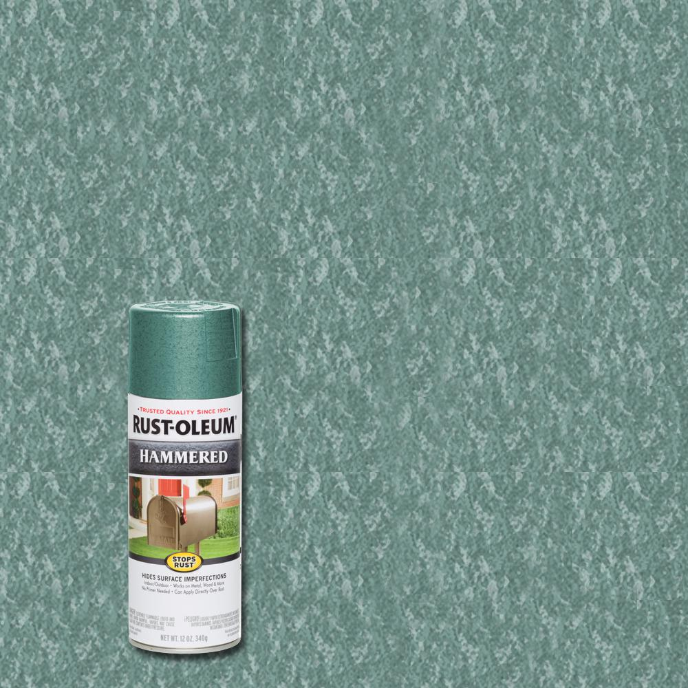 Rust-Oleum Stops Rust 12 oz. Hammered Verde Green Protective Spray Paint (6-Pack)
