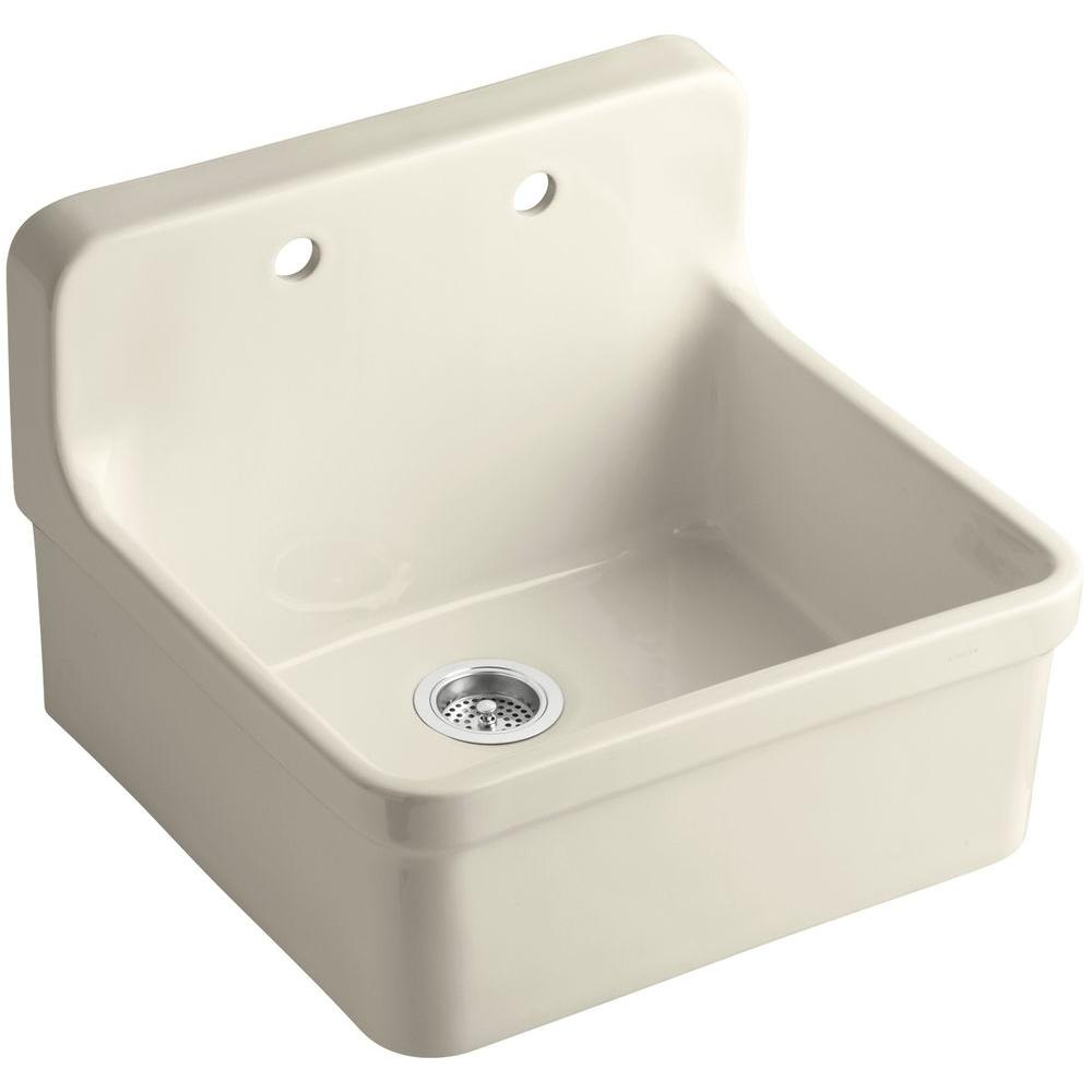 wall mount kitchen sink kohler gilford wall mount vitreous china 24 in 2 6943