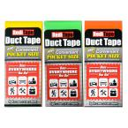 RediTape Pocket Size Duct Tape Bright in Color (3-Pack)