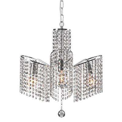 Keith 3-Light Chrome Ceiling Lamp