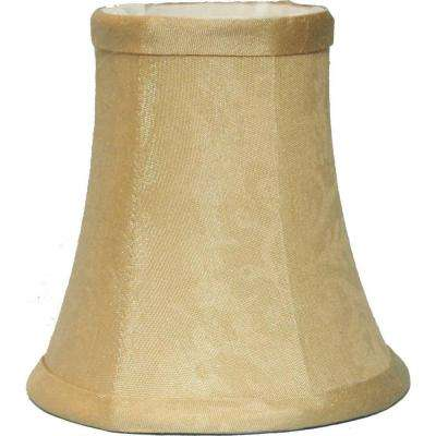 Minishade 3 in. x 6 in. x 5 in. Beige Damask Chandelier Shade