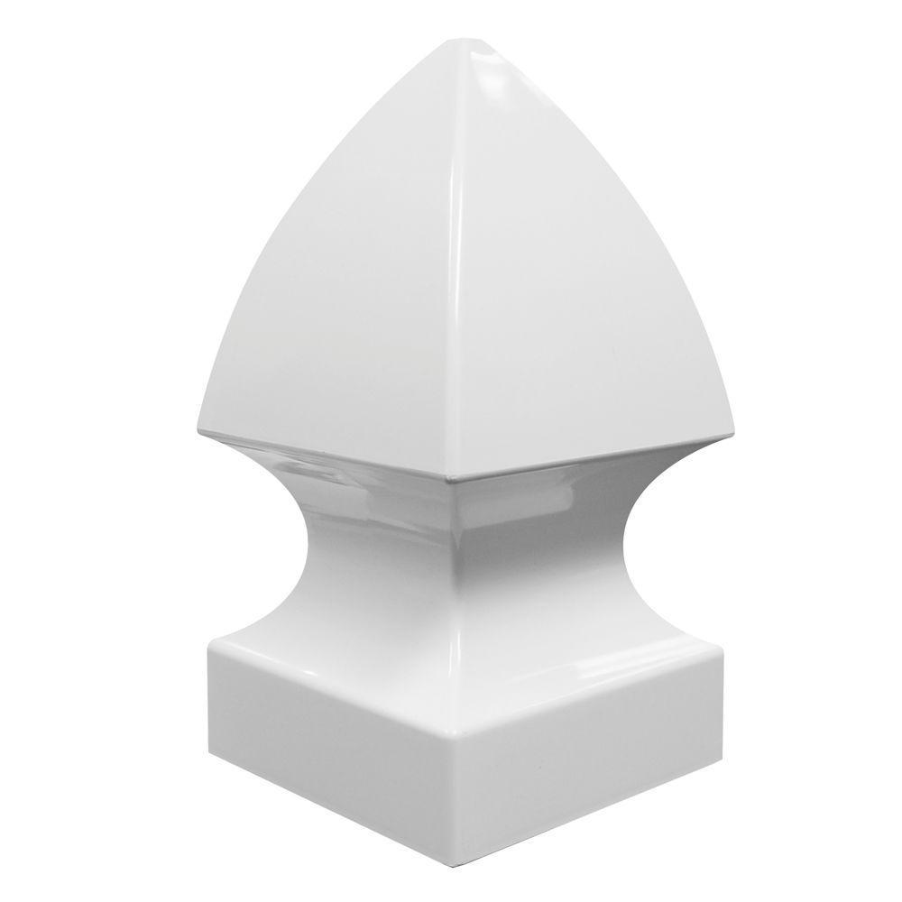 Veranda 5 in. x 5 in. Vinyl White Gothic Post Cap