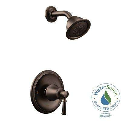 Dartmoor Posi-Temp WaterSense 1-Handle Wall-Mount Shower Only Faucet Trim Kit in Oil Rubbed Bronze (Valve Not Included)