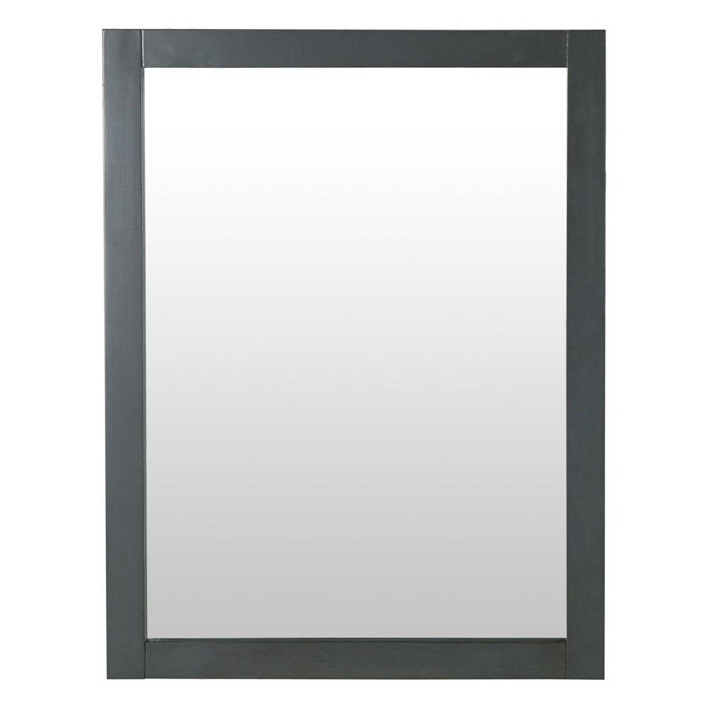 Home Decorators Collection Hanley 31 In. X 24 In. Framed Wall Mirror In Charcoal Gray-HAGM2431