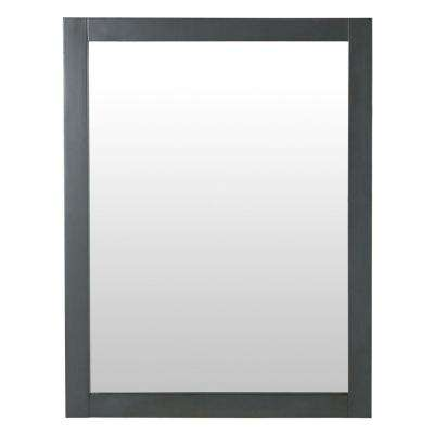 Hanley 31 in. x 24 in. Framed Wall Mirror in Charcoal Gray