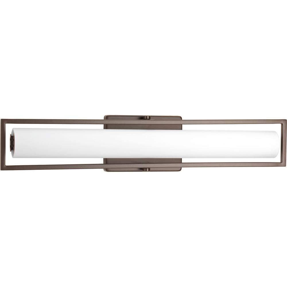 Frame Collection 35-Watt Architectural Bronze Integrated LED Linear Vanity Light