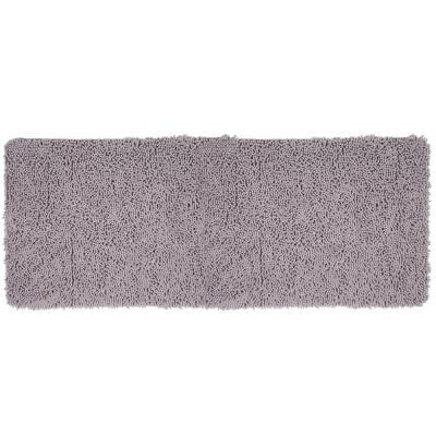 Shag Grey 24 in. x 60 in. Memory Foam Bath Mat